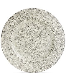 Jay Imports Glamour Silver-Tone Glass Charger Plate