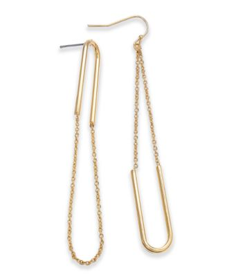 I.N.C. Gold-Tone Chain Loop Drop Earrings, Created for Macy's