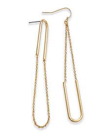 I.N.C. Gold-Tone Chain Loop Drop Earrings, Created for Macy's