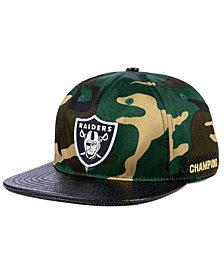 Pro Standard Oakland Raiders Woodland Strapback Cap