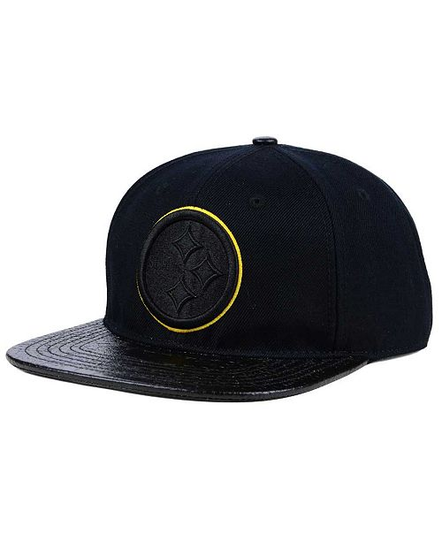 sports shoes f7914 28f09 ... Pro Standard Pittsburgh Steelers Team Color Black Strapback Cap ...