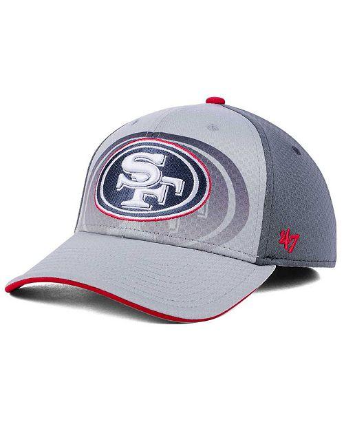 97dc7480d 47 Brand San Francisco 49ers Greyscale Contender Flex Cap - Sports ...