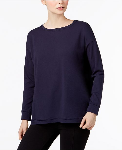 Eileen Fisher Organic Cotton Scoop-Neck Top, Regular & Petite