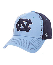 Zephyr North Carolina Tar Heels Pattern Pipe Stretch Cap