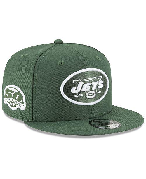 New Era New York Jets Anniversary Patch 9FIFTY Snapback Cap - Sports ... b0305fccef6