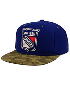 CCM New York Rangers Fashion Camo Snapback Cap