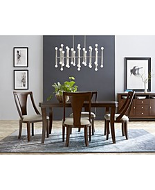 Portland Expandable Dining 5-Pc. Set (Dining Table & 4 Side Chairs), Created for Macy's