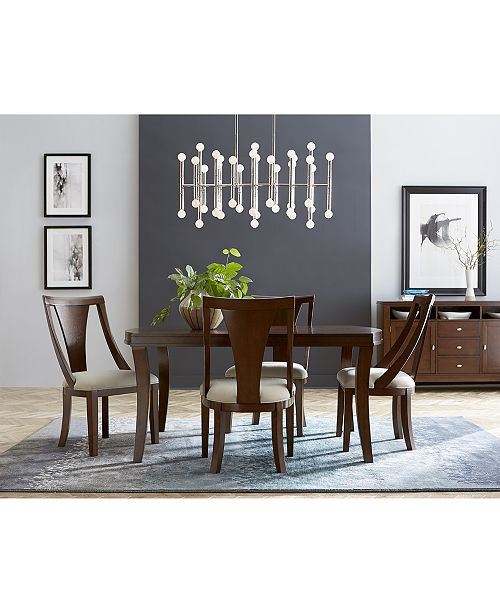 Furniture Portland Expandable Dining Furniture, 5-Pc. Set (Dining Table & 4 Side Chairs), Created for Macy's