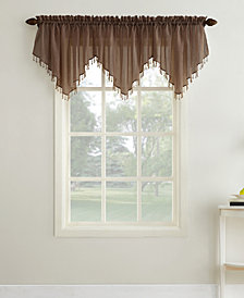 "Lichtenberg No. 918 Crushed Sheer Voile 51"" x 24"" Ascot Valance"
