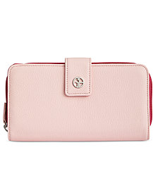 Giani Bernini Softy Leather Colorblock All In One Wallet, Created for Macy's