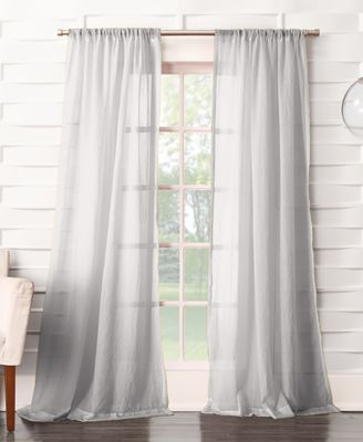 918 Silvia Semi Crushed Sheer Rod Pocket 50 X 63 Curtain Panel
