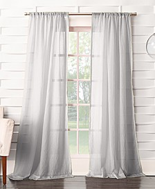 No. 918 Silvia Semi-Crushed Sheer Rod Pocket Curtain Panel Collection