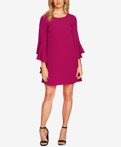 CeCe Ruffled Bell-Sleeve Dress