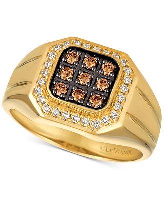 Le Vian Gents™ Men s Diamond Ring 1 2 ct t w in 14k Gold