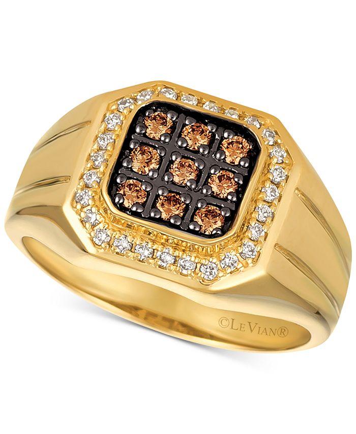 Le Vian - Men's Diamond Ring (1/2 ct. t.w.) in 14k Gold