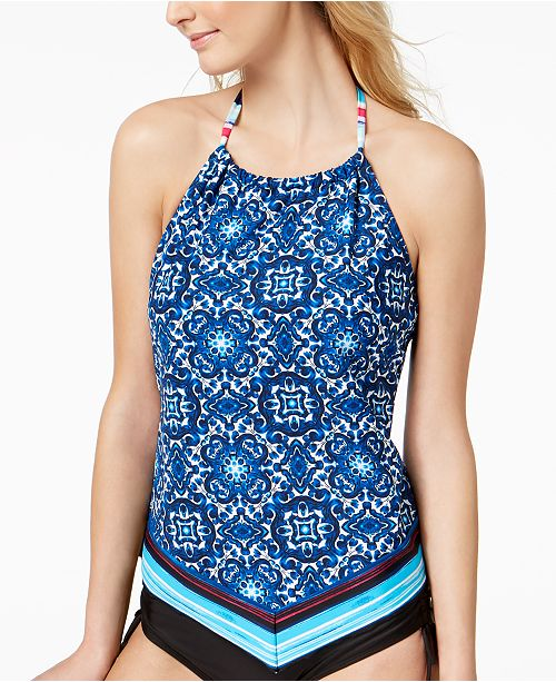 c79310982ab31 ... Tankini Top  24th   Ocean Viva La Frida Printed Handkerchief High-Neck Halter  Tankini ...
