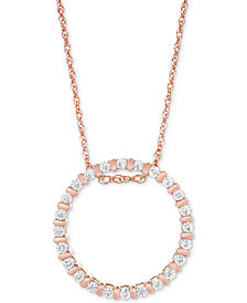 Diamond Circle Pendant Necklace (1/4 ct. t.w.) in 14k Rose Gold