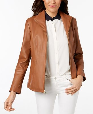 Cole Haan Plus Size Leather Moto Jacket Coats Women Macy S
