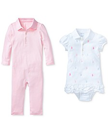Ralph Lauren Baby Girls Polo Twice as Nice Ensemble