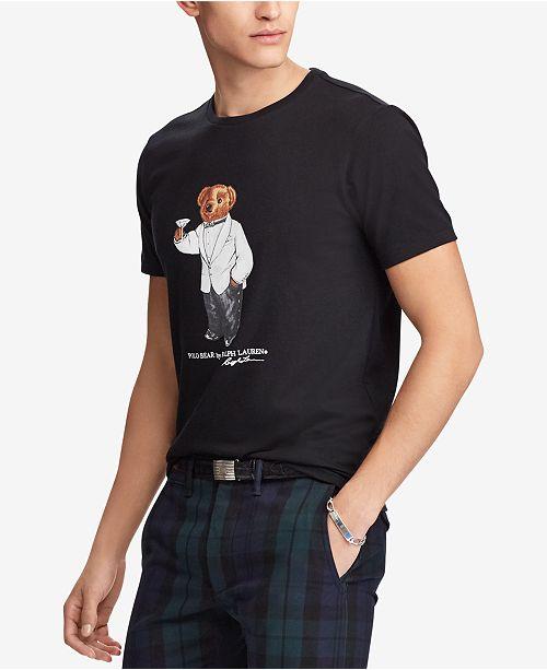 Polo Ralph Lauren Men s Polo Bear T-Shirt   Reviews - T-Shirts - Men ... 5d6b4b64c92a2