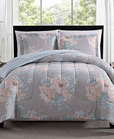 Geo Floral 3-Pc. Reversible Comforter Sets