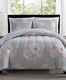 Geo Floral 3-Pc. Reversible Full/Queen Comforter Set