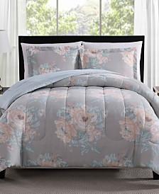 Geo Floral 3-Pc. Reversible Comforter Sets
