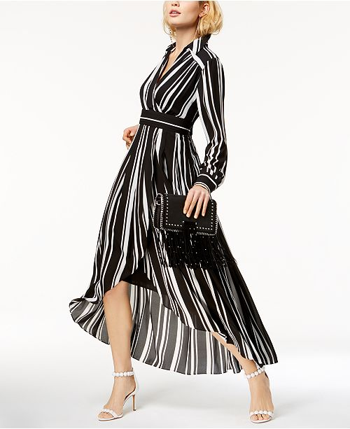 Inc International Concepts I N C Striped Faux Wrap High
