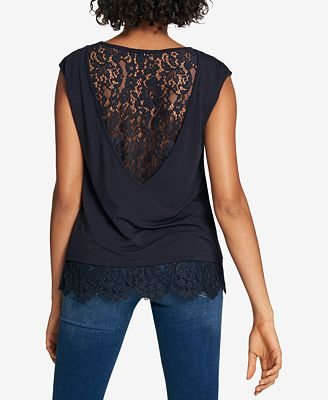 Tommy Hilfiger Lace-Back Sleeveless Top, Created for Macy's
