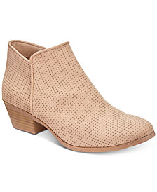 Style & Co Warrenn Perforated Booties, Created for Macy's