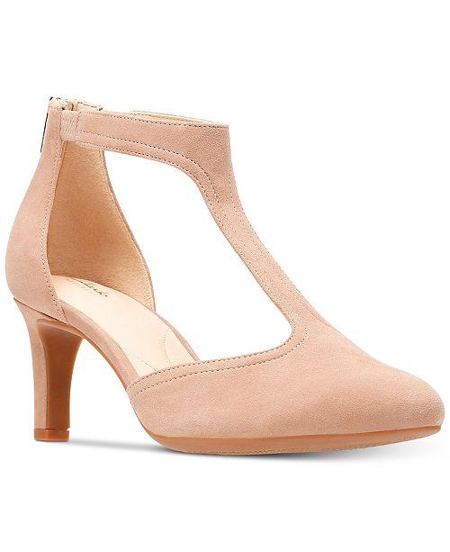 e2c255c8ccbb Clarks Women s Calla Lily T-Strap Pumps   Reviews - Pumps - Shoes ...