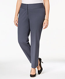 Alfani Plus & Petite Plus Size Straight-Leg Pants, Created for Macy's