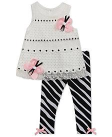 Rare Editions 2-Pc. Tunic & Zebra-Print Leggings Set, Baby Girls