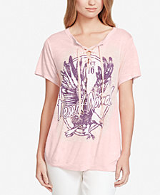 Jessica Simpson Magnolia Lace-Up T-Shirt