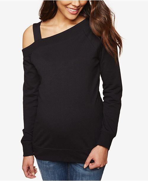 Motherhood Maternity Cold-Shoulder Sweatshirt