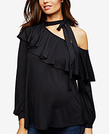 Rachel Pally Maternity Off-The-Shoulder Top
