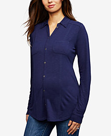 A Pea in the Pod Maternity Button-Front Blouse