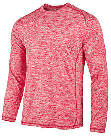 Greg Norman for Tasso Elba Men's Long-Sleeve Heathered Tech T-Shirt, Created for Macy's