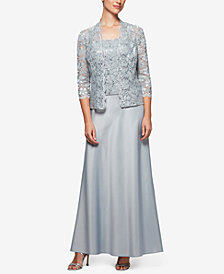 Alex Evenings Sequined Lace Dress & Jacket