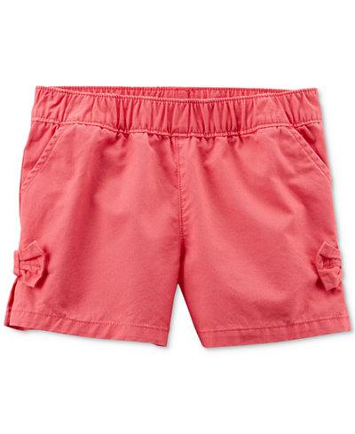 Carter's Cotton Side-Bow Shorts, Little Girls & Big Girls