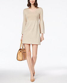 NY Collection Petite Empire-Waist Sweater Dress
