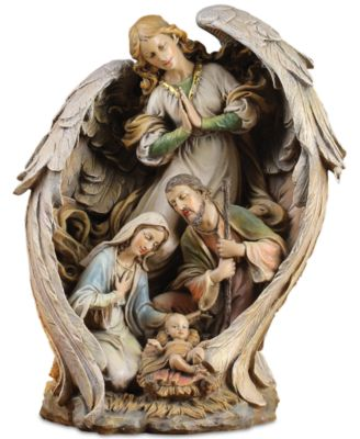 Large Guardian Angel With Holy Family