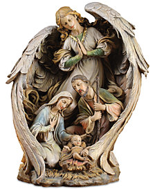 Napco  Large Guardian Angel With Holy Family