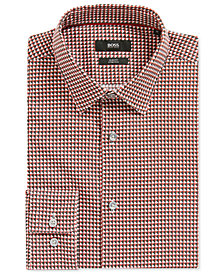 BOSS Men's Slim-Fit Geometric Stretch Sport Shirt