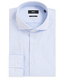 BOSS Men's Slim-Fit Textured Cotton Dress Shirt