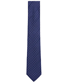 BOSS Men's Tonal Striped & Dotted Silk Tie