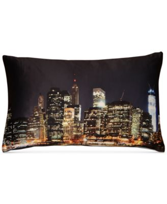"LAST ACT! New York Graphic-Print 13"" x 21"" Decorative Pillow"