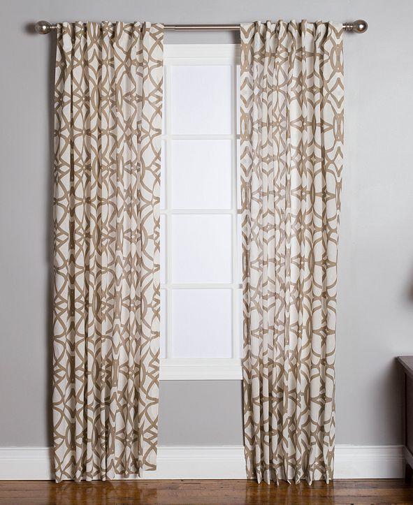 "Miller Curtains Othello Cotton 50"" x 95"" Geo-Print Twill Window Panel"