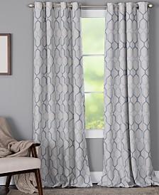 "Miller Curtains Alain 50"" x 84"" Geo-Print Energy-Efficient Window Panel"
