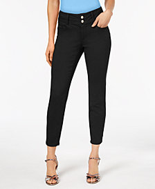 Thalia Sodi Double-Button Skinny Ankle Pants, Created for Macy's